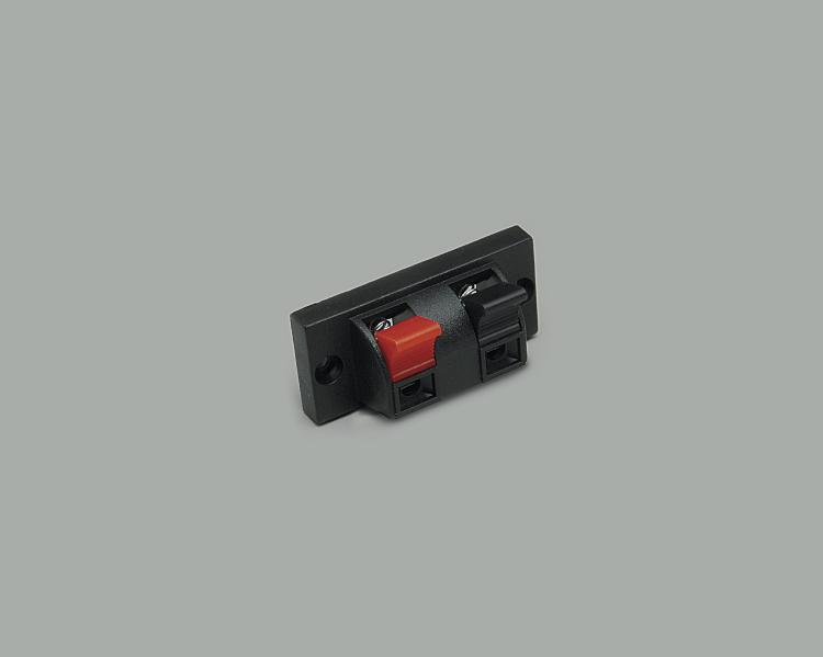 speaker terminal, clamp connection 2-way, cable opening 4,0mmx2,5mm
