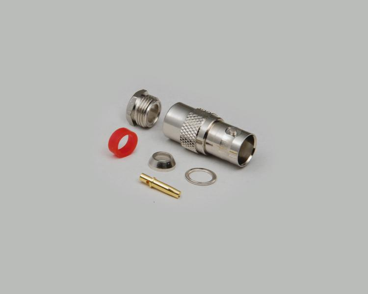 BNC jack, solder type, Aircell 7, Teflon, 50 Ohm