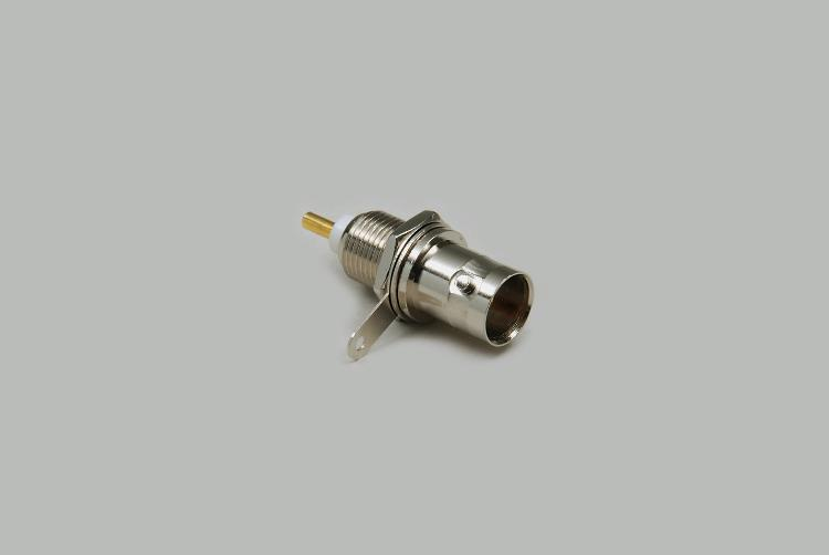 build-in BNC socket, solder type, single hole mounting, Teflon, 50 Ohm