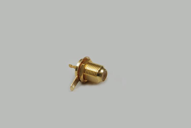 build-in F-jack, single hole mouting, thread length 12mm, with nut, Delrin, 75 Ohm