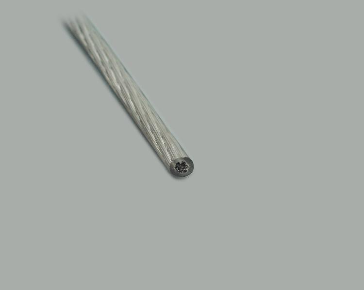 lamp cable, Ø3x0,75mm² (3x24x0,20mm), round, transparent, flexible, tinned