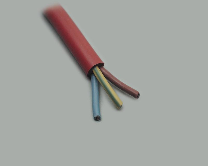 SIHF, Ø 3x1,00mm², silicone cable, red