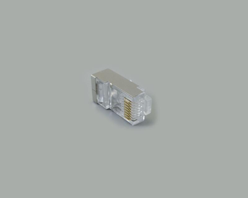 modular plug 8P/8C, CAT. 5e, double liner, fully shielded