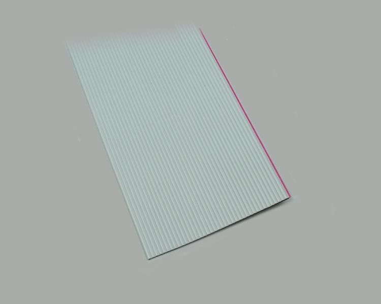 ribbon cable AWG 28, 7x0,127mm tinned, 34-pin, grid pitch 1,27mm, grey